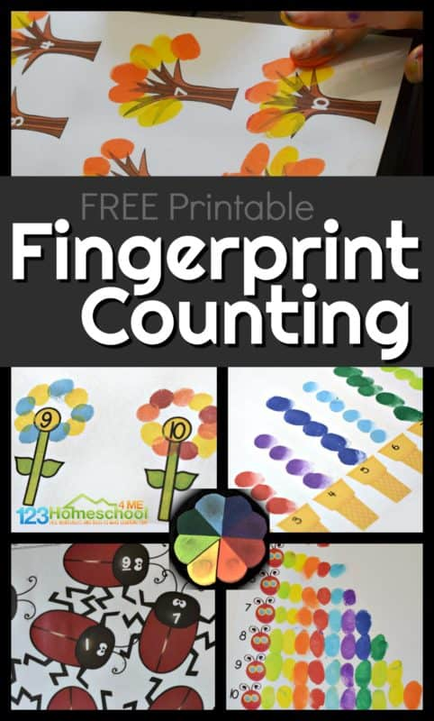 Add a creative spin to your next counting activity by asking your child to fingerpaint a certain quantity. Here you will find more play-based number activities for preschoolers to keep them practicing their counting, number recognition and one-to-one correspondence. #howweelearn #numbers #numbersense #numeracy #counting