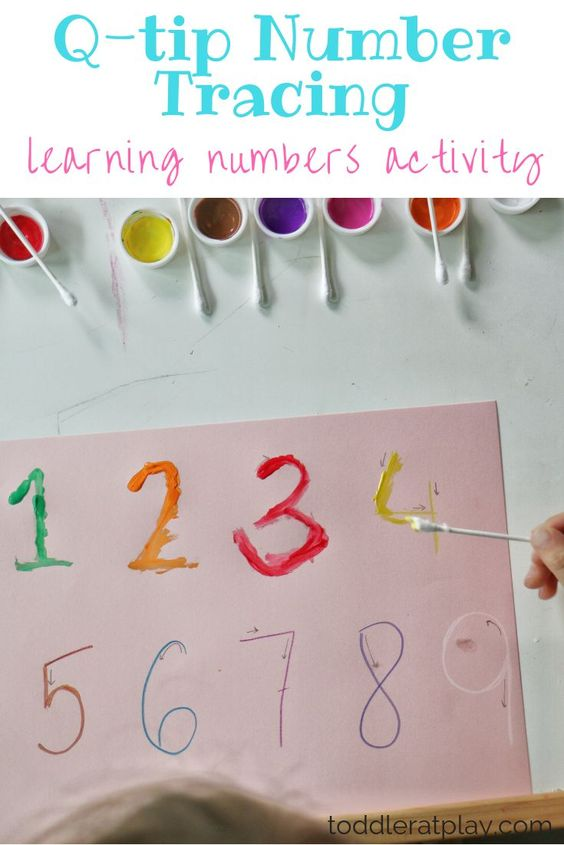 Take a creative break and paint some numbers with your kiddo. Here you will find more play-based number activities for preschoolers to keep them practicing their counting, number recognition and one-to-one correspondence. #howweelearn #numbers #numbersense #numeracy #counting