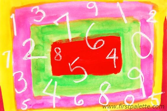 Have your child recite the numbers they reveal with this amazing crayon resist art! Here you will find more play-based number activities for preschoolers to keep them practicing their counting, number recognition and one-to-one correspondence. #howweelearn #numbers #numbersense #numeracy #counting