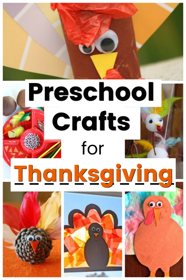 Easy preschool crafts for Thanksgiving! So many turkey crafts for kids