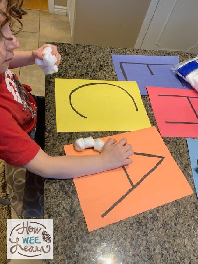 cotton ball activities for preschoolers