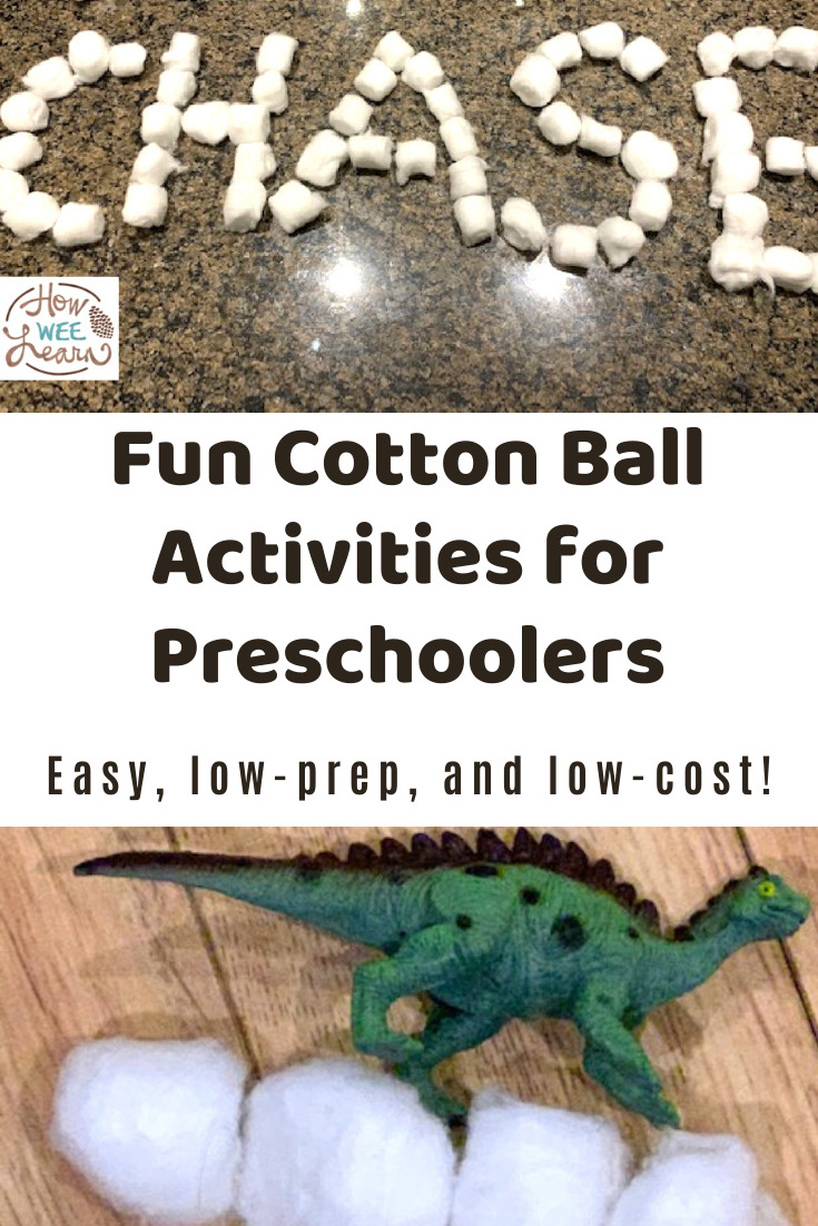 These Fun cotton ball activities for preschoolers are so easy and require almost no prep