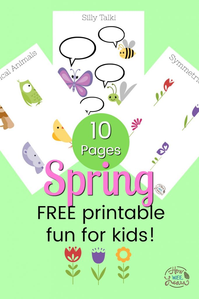 FREE Spring Printable Colouring Pages And Activity Pages - How Wee Learn
