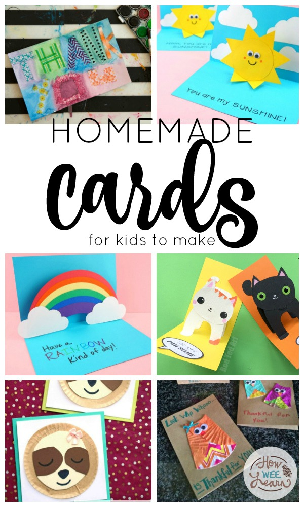 Homemade Cards For Kids To Make How