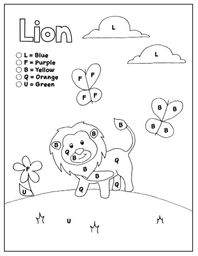 Coloring Pages By Letter Set 4 Letters L F B Q U How Wee Learn