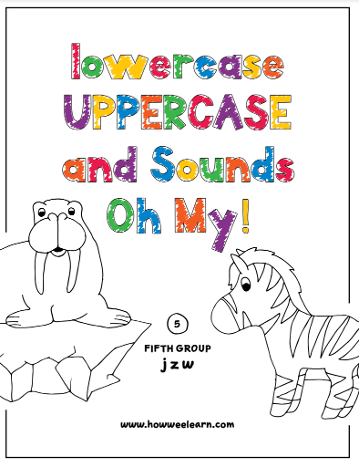 Free Printable Color By Letter Worksheets Set 5 Letters J Z W How Wee Learn