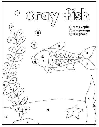 Worksheets For Kindergarten And Preschool Color By Letter Coloring Pages Set 6 Letters V Y X How Wee Learn