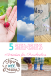 Love these 5 senses activities for preschoolers. Great nature and outdoor fun and perfect for summer!
