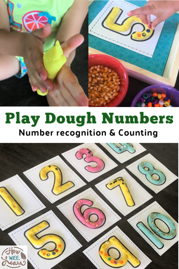 This play dough numbers activity is so fun and so good for helping kids learn all about numbers. It's a great sensory activity too!