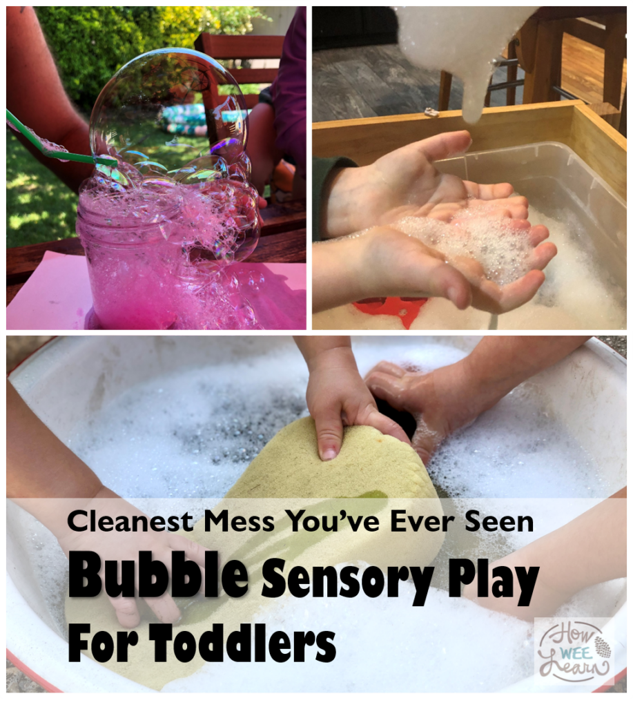 Bubbles are such a fun summer activity for kids of all ages. This bubble sensory play bin is so much fun! Endless hours of play for toddlers.