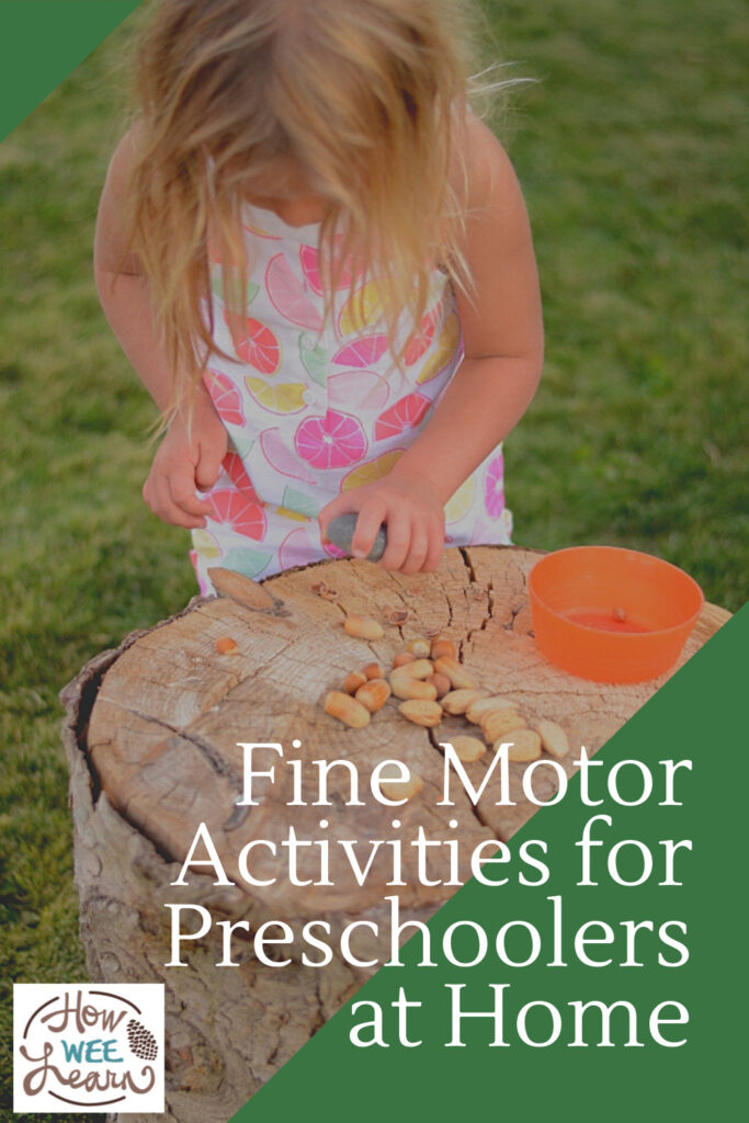 All you need are nuts for this super fun and easy fine motor activity for preschoolers. Little ones love it!