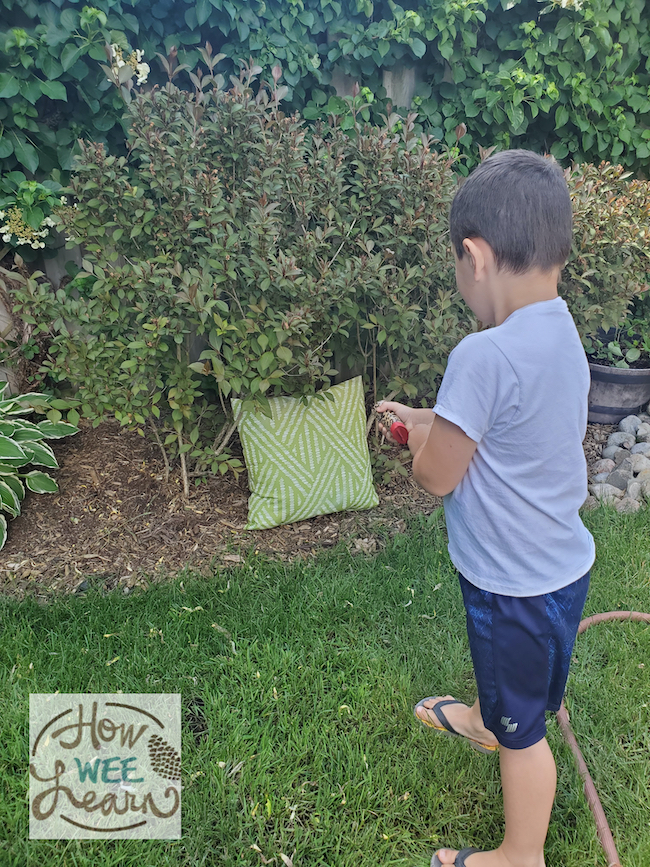 Outdoor stem activities are great for learning while having fun and this toilet paper roll experiment is such a fun outdoor activity for kids of all ages!