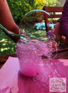 bubble sensory play for toddlers