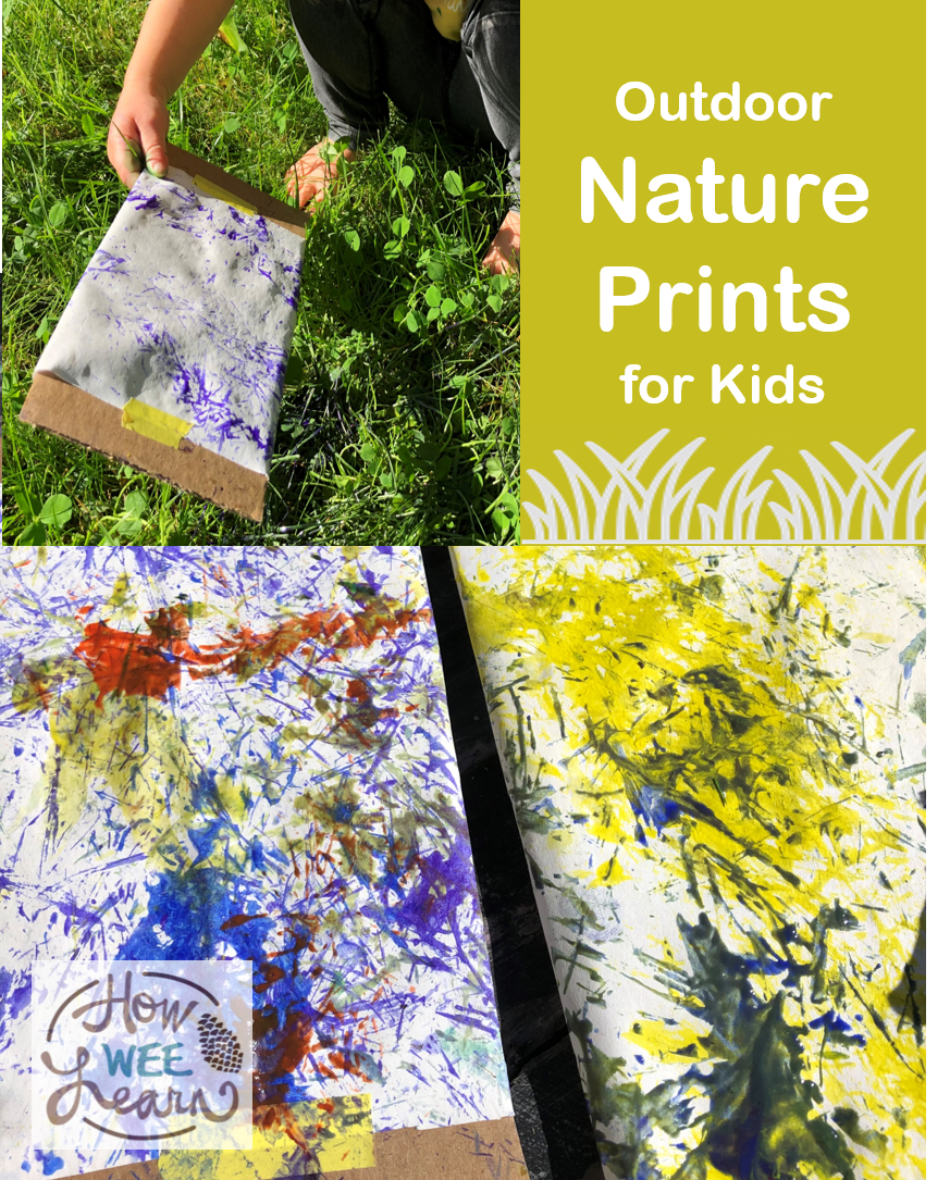 Such a fun activity for kids - love the way these outdoor nature prints turned out! Such a great way to get the kids outside in nature having fun.