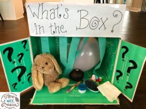 This fun sensory and vocabulary activity is such a great kindergarten development activity. The kids loved trying to figure out what each item was!