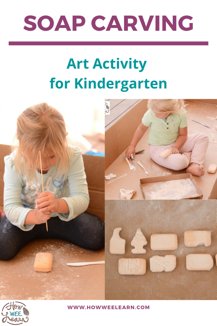 This soap carving activity is great for kids of all ages. It's the perfect art project for kindergarten!