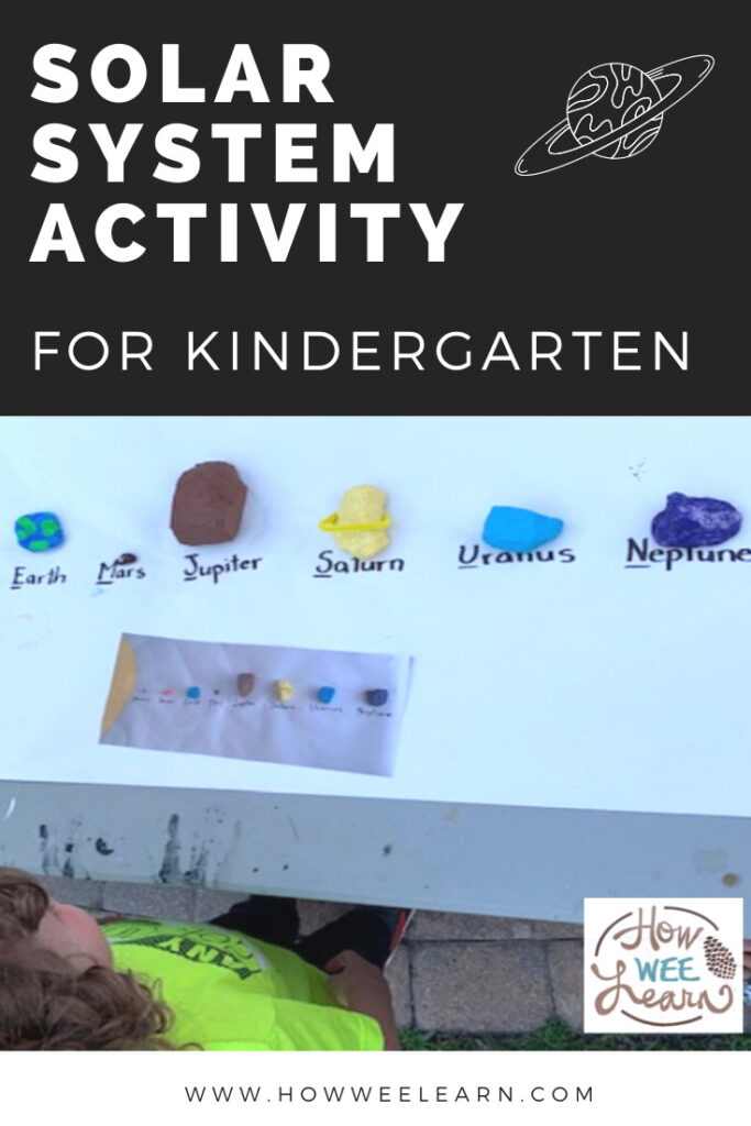 The kids absolutely loved this solar system activity for kindergarten. So much fun painting rocks as planets, eating fruit planets and going on a scavenger hunt!