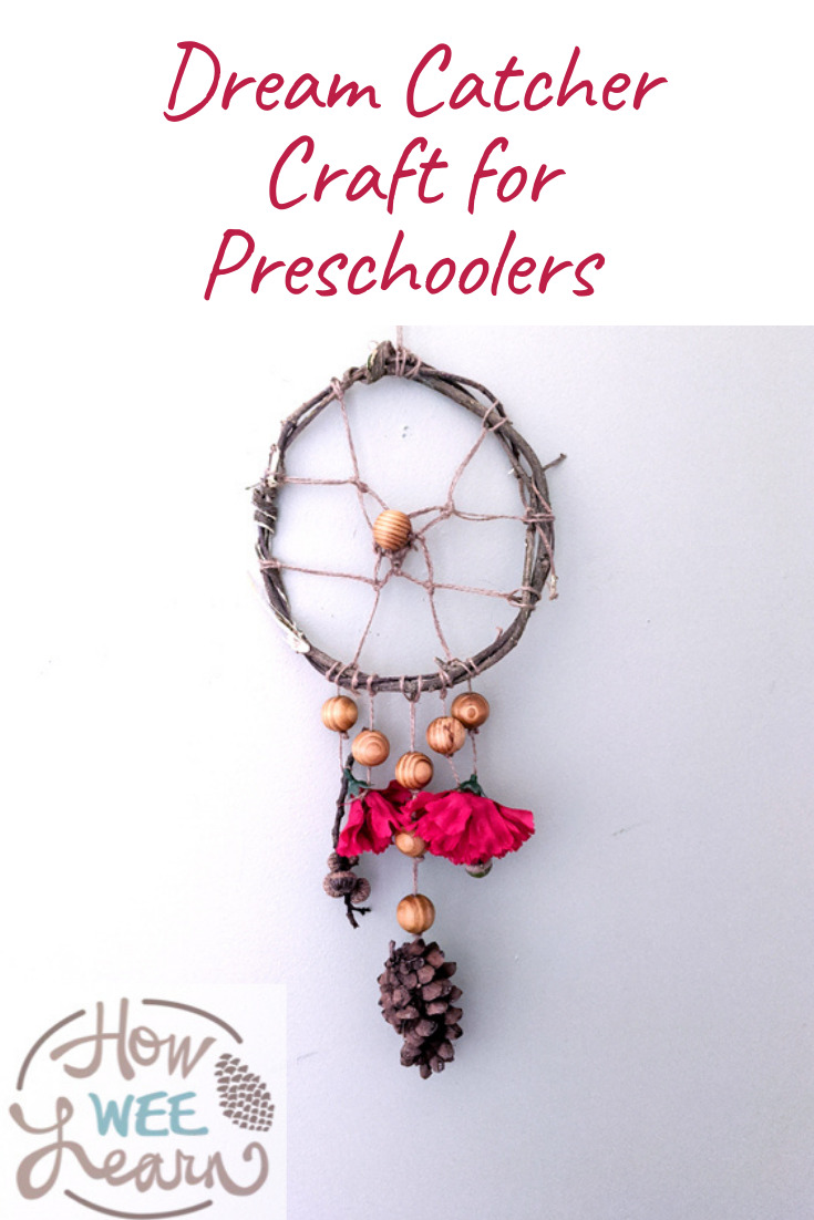 This dream catcher craft for preschoolers is so great for practicing fine motor skills and calming down kids. Great for creating calming nights too!