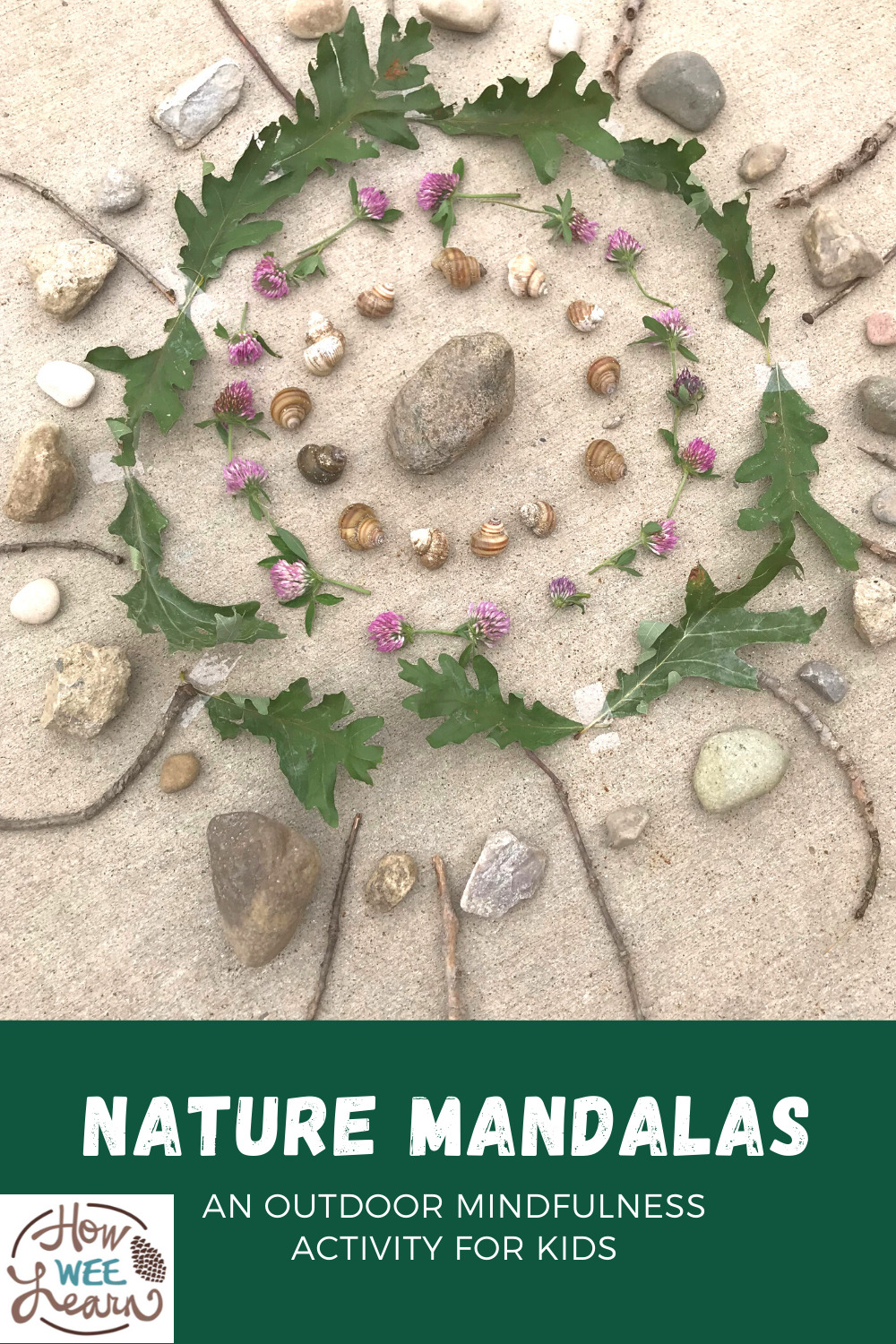 These nature sandals are the most beautiful outdoor craft for kids. Incorporate some mindfulness into kids' activities