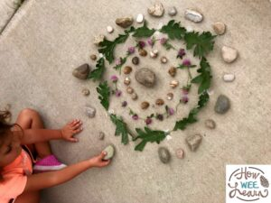 These nature mandalas are the most beautiful outdoor craft for kids. Incorporate some mindfulness into kids' activities
