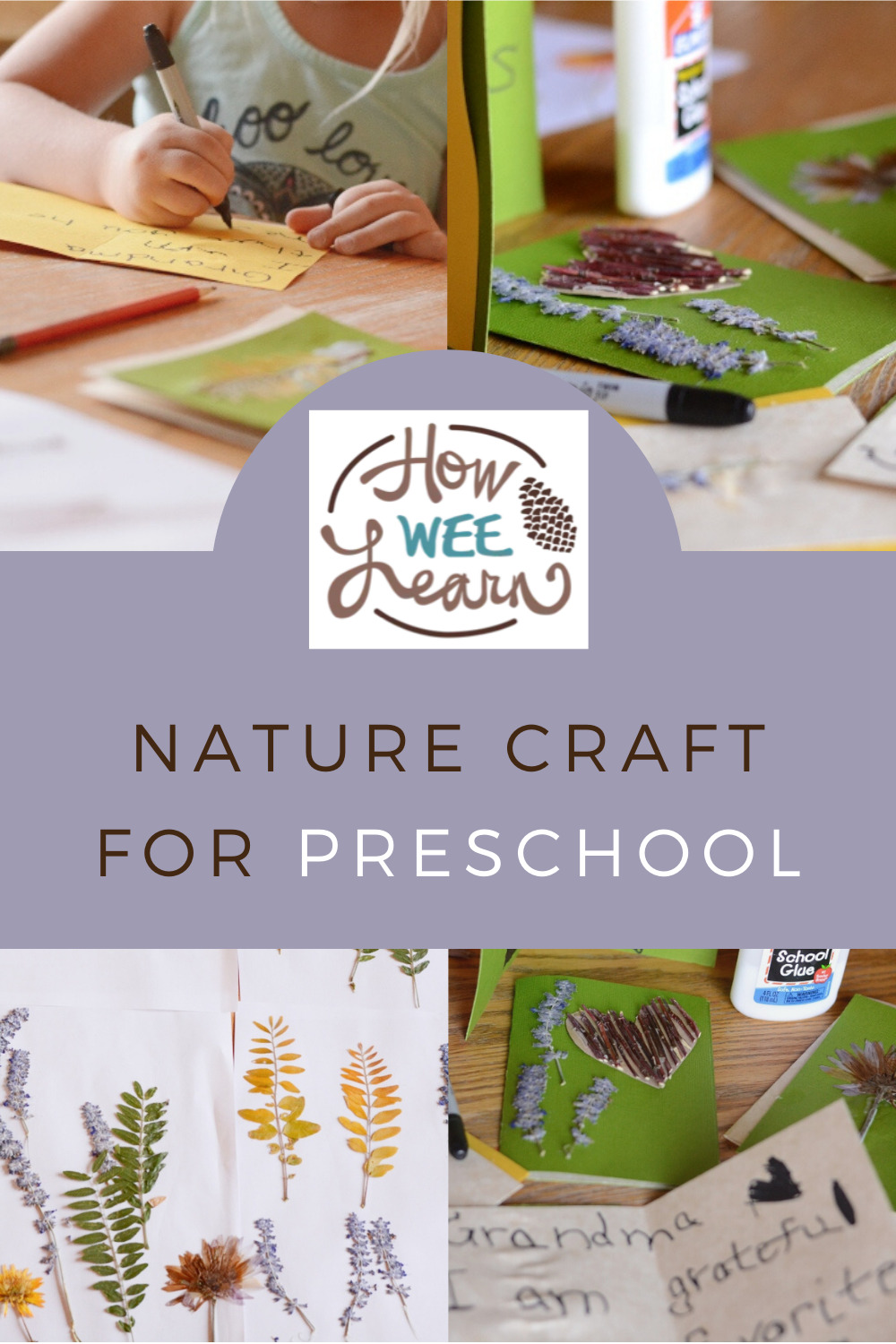 These nature cards are so gorgeous! Kids absolutely loved creating these cards and it's the perfect nature craft for preschoolers.