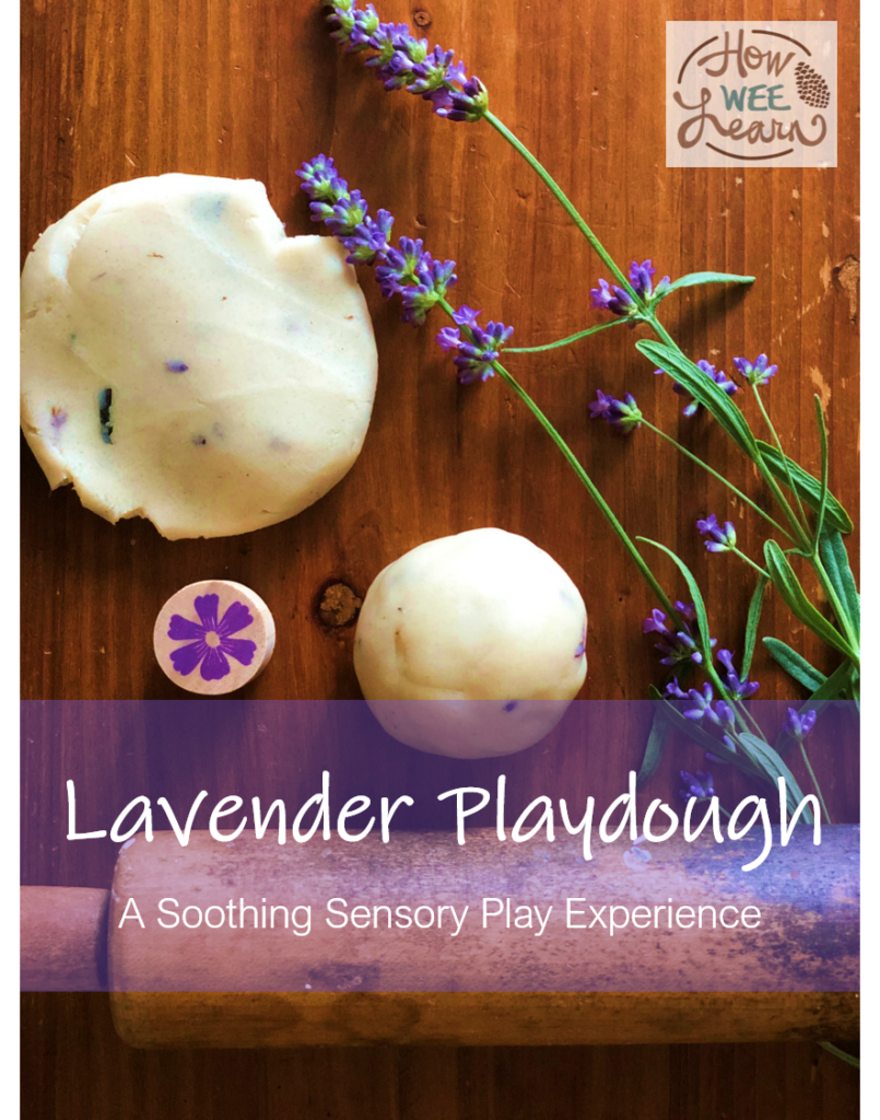 This lavender playdough smells so good! Its our go-to no-cook homemade play dough - relaxing and fun for the kids.