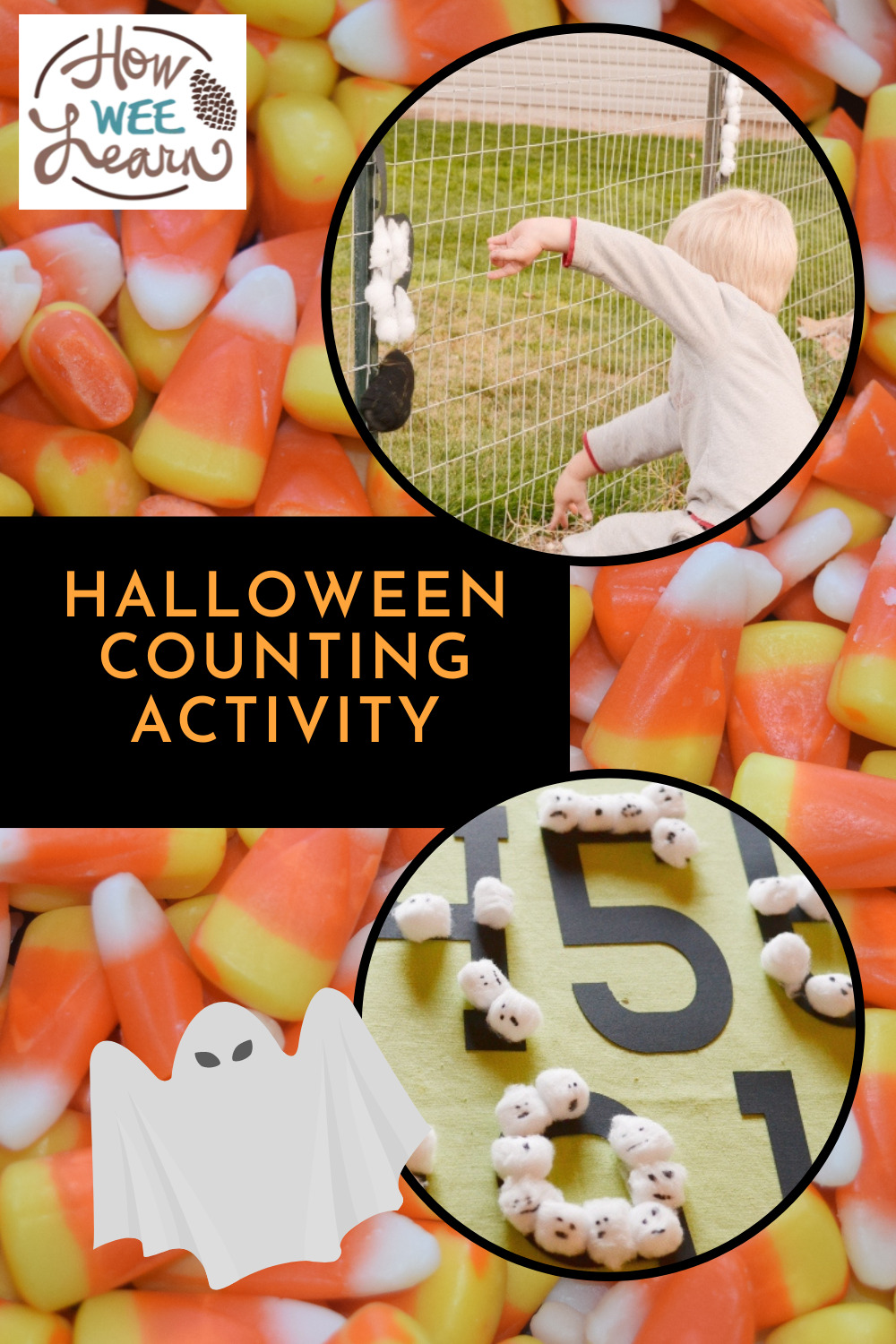 This Halloween counting activity is such a fun learning activity, kids won't even realize they are learning how to count!