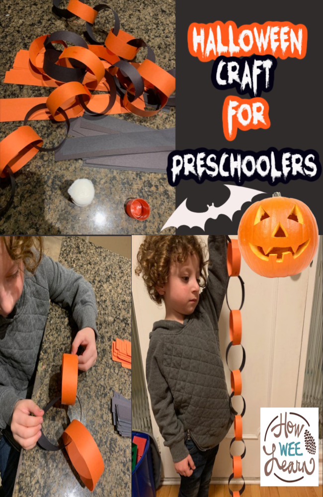 This Halloween craft for preschoolers involves learning about patterns in such a fun and simple way. We learned a lot with this craft!