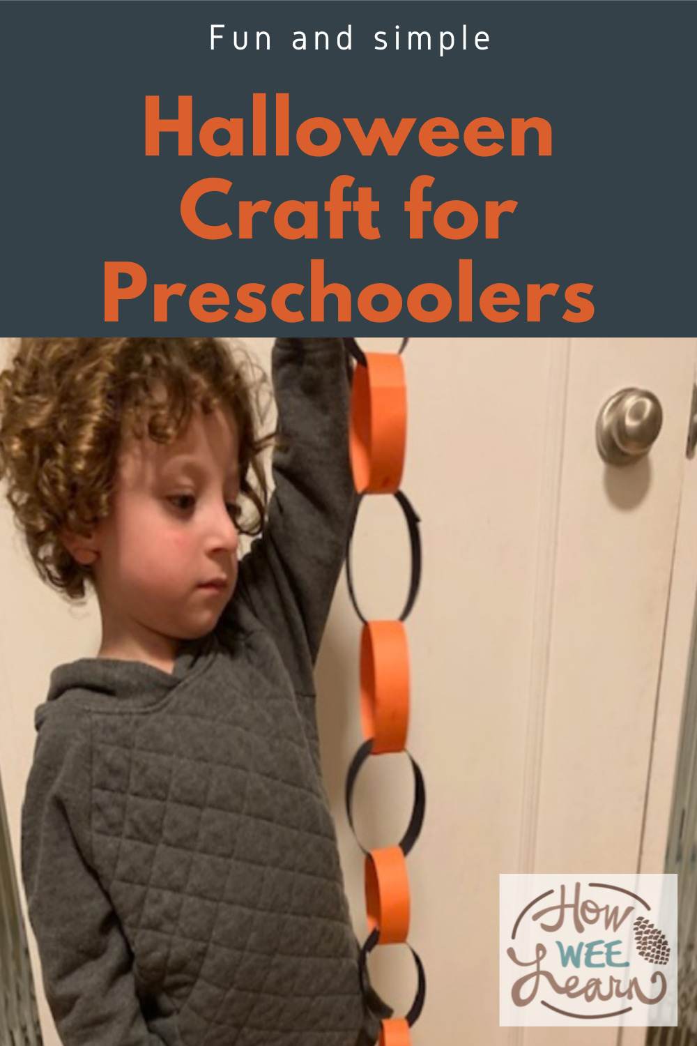 This Halloween craft for preschoolers involves learning about patterns in such a fun and simple way. We had a great time with simple craft and my preschooler learned a lot!