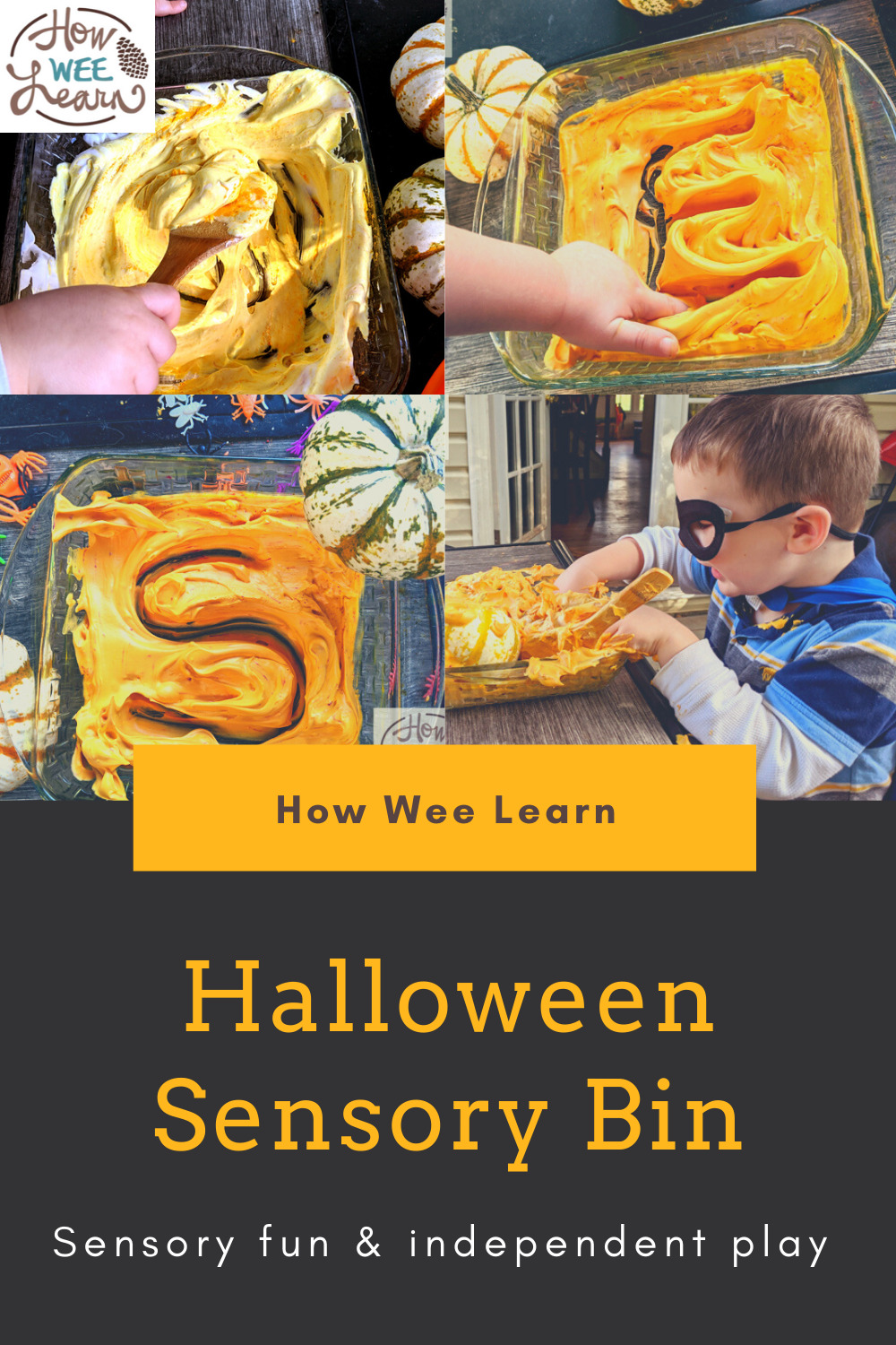 The kids loved this halloween sensory bin. So much fun and a great quiet activity too