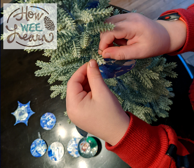 This paper plate craft for Christmas was so much fun to make. We only needed a few materials and it was great fine motor practice too!
