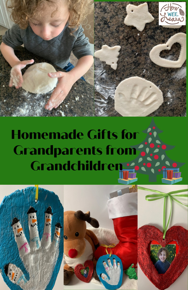 These salt dough ornaments are the perfect homemade Christmas ornaments for grandparents from grandchildren. So simple and so much fun to make!