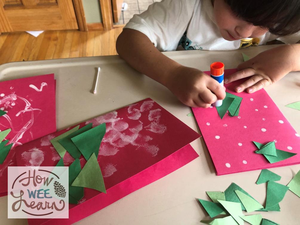 homemade Christmas card for kids to make