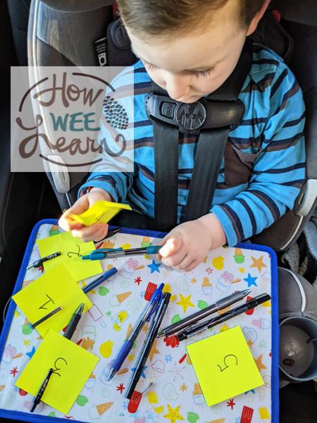 preschooler activities for the car