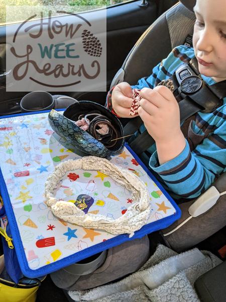 screen-free preschooler activities for the car