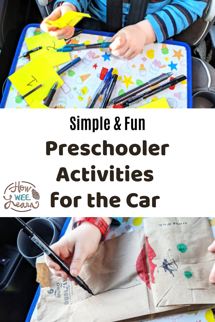 These preschooler activities for the car are awesome - so simple and they incorporate learning and fun!