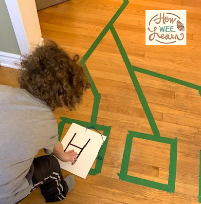 We had so much fun with this alphabet obstacle course for kids at home! Lots of fun and learning with this activity.