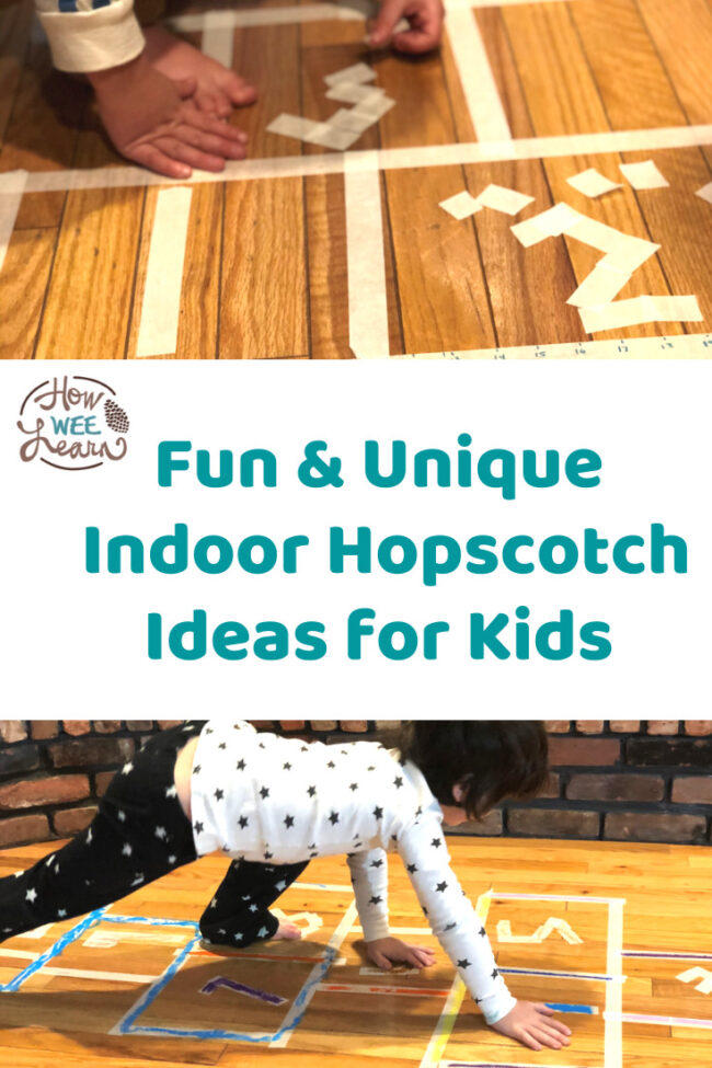 We had SO much fun with this indoor hopscotch game. It's a perfect active outdoor activity for kids to do inside during really cold or rainy days. Also great for beaks from school!