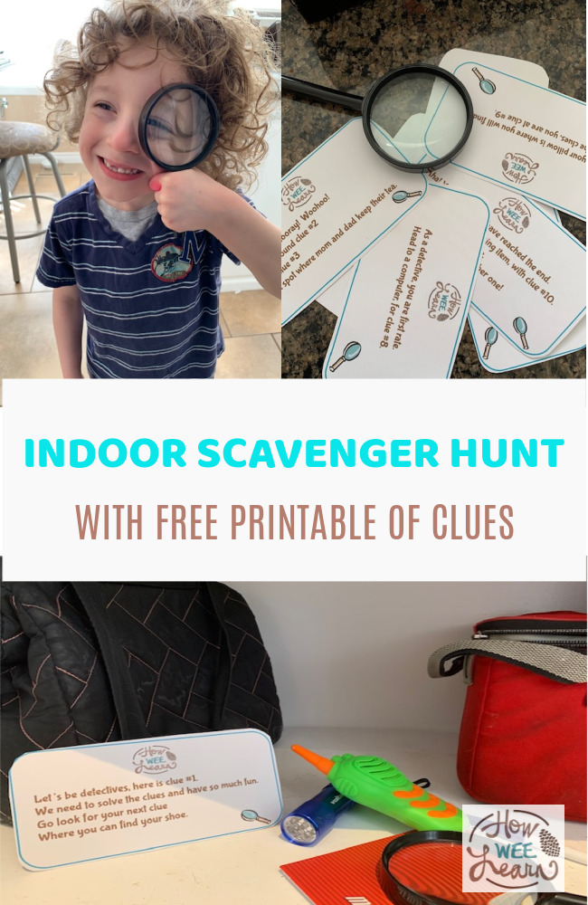 This indoor scavenger hunt is the best! SO much fun and the free printable clues are amazing.