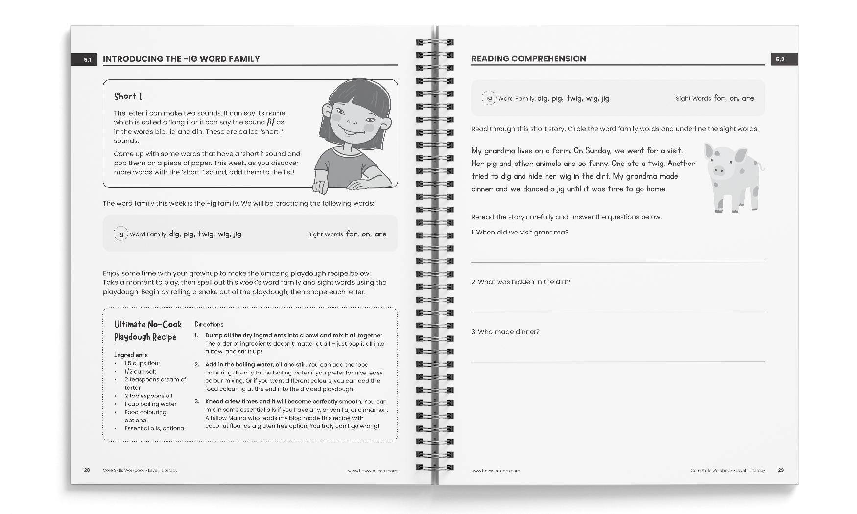 Sample from Level One Literacy Core Skills Coursebook