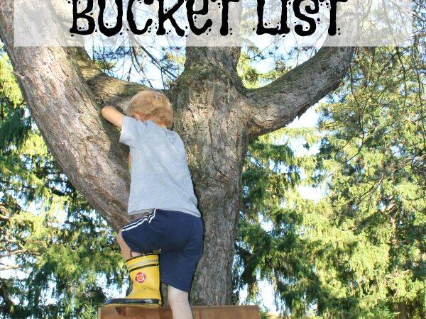 A preschoolers springbucket list